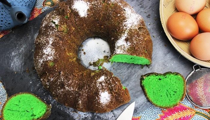 PANDAN CAKE, DE GROENE INDONESISCHE SPONSCAKE