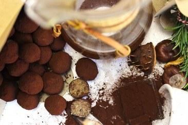 DOLCENI DI CASTAGNE: KASTANJE-CHOCOLADETRUFFELS